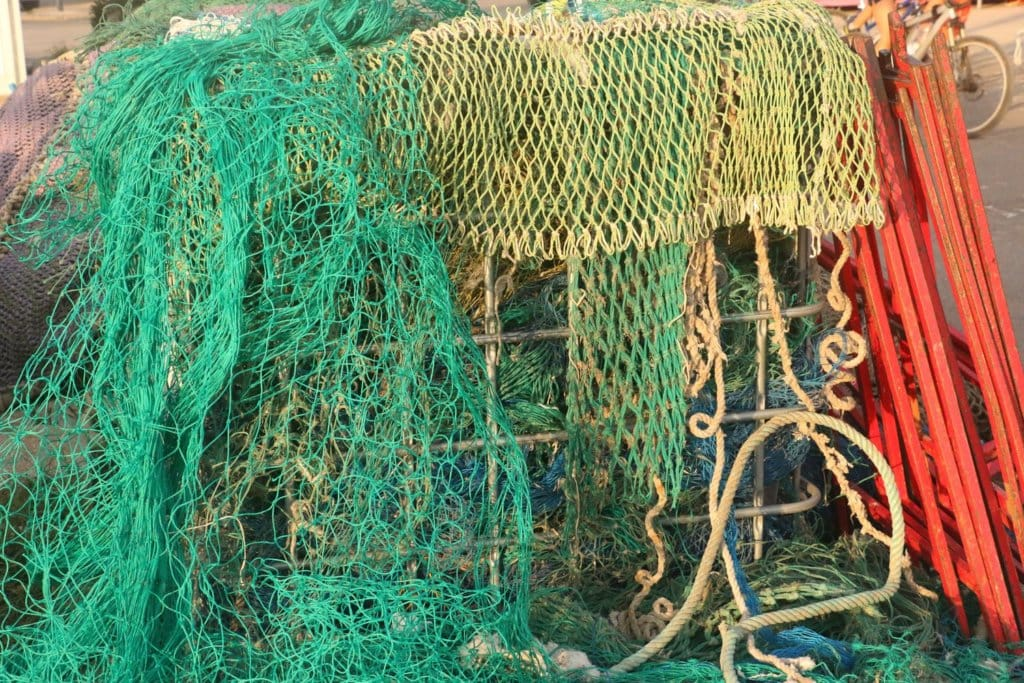 containers with fishing nets
